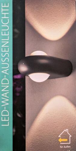 LED Wandleuchte Außenleuchte mit Helligkeitssensor Wandlampe Anthrazit