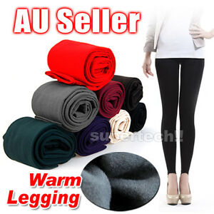 New-Women-039-s-Winter-Thick-Warm-Footless-Slim-Stretch-Leggings-Skinny-Pants-Cotton