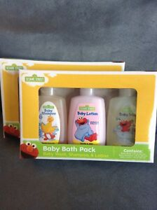 Lot Of Two Sesame Street Baby Bath Pack Travel Size Shampoos & Soaps