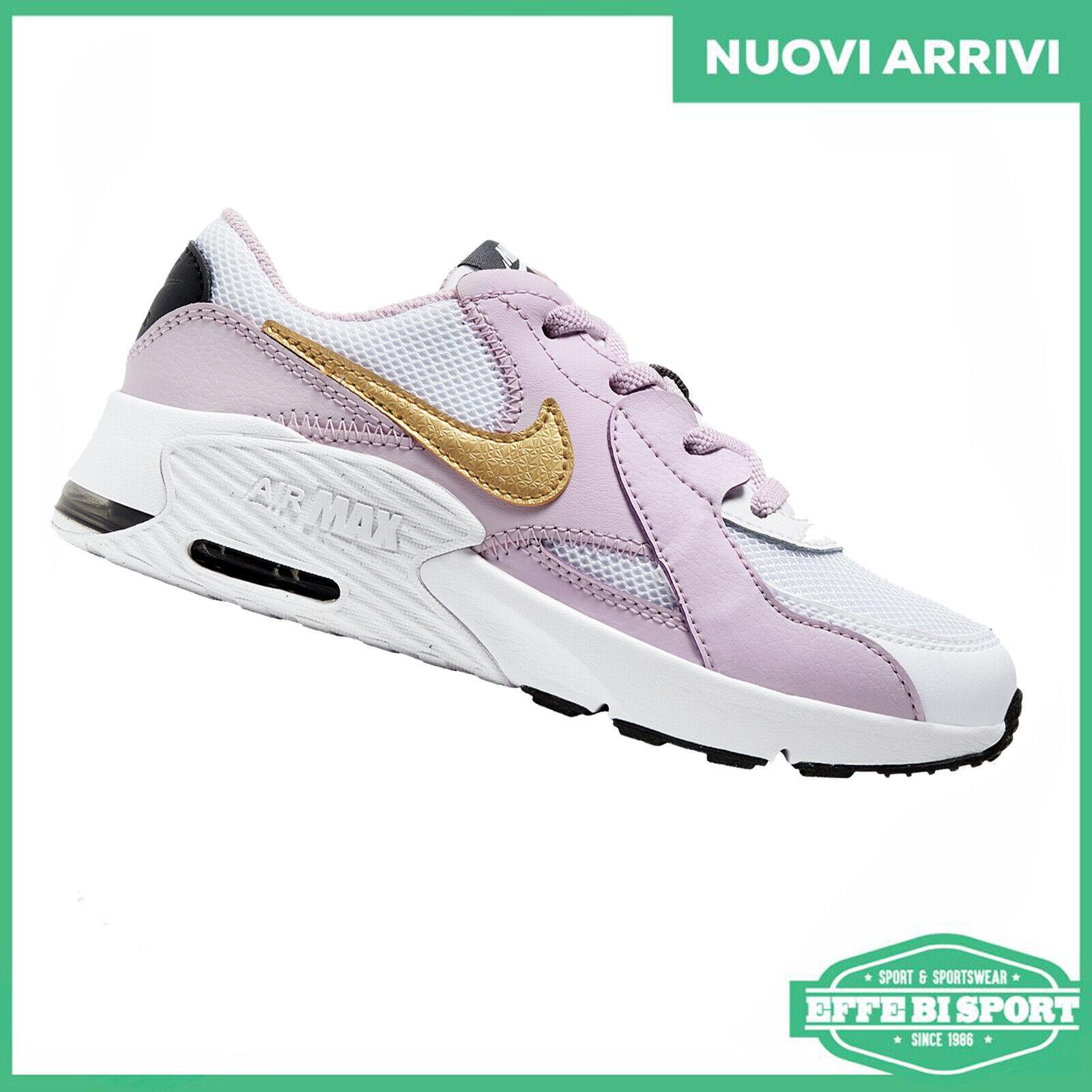 Dettagli su Scarpa bambina Nike Air Max Excee sneakers ragazza casual sportiva pelle e tela