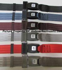"""2 Point Non Retractable Lap Seat Belt,GM, Ford, Chevy, Mopar, 74"""" -Select Color-"""