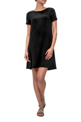 Only Damen Kleid Shirtkleid Sommerkleid Kurzarm Basic Longshirt Damenrock Shirt