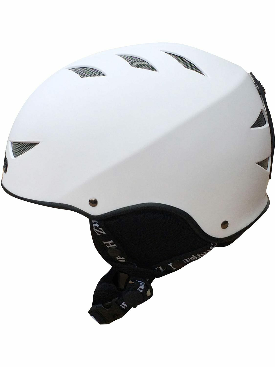 Hardnutz Ski Helmet White Adult & Kids Sizes Rubber Ski Helmet Snowboard New