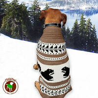 Chilly Dog Squirrel Cowichan Indian Dog Sweater Handmade M L (18-40 Lbs)
