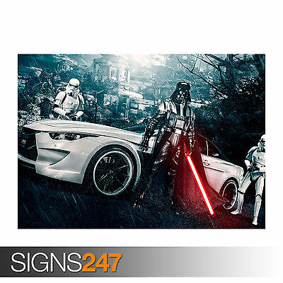 Poster Print Art A0 A1 A2 A3 A4 Car Poster STORMTROOPER BMW M6 VILNER 0096