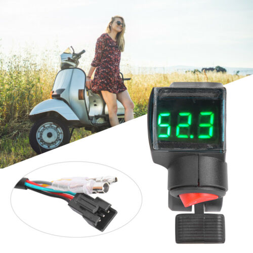 12V-99V Electric Scooter E-Bike Thumb Throttle LCD Voltage Display Power Switch