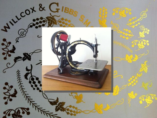 Willcox Gibbs Sewing Machine Waterslide Restoration Decals EBay Beauteous Willcox And Gibbs Sewing Machine