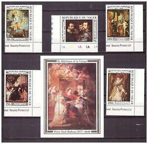 S16246-Rubens-Paintings-Check-MNH-1977-Niger-5v-S-S