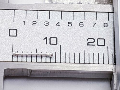 Pendiente Nariz Plata de Ley Diminuto 1mm Ball Borla Extremo en Bola 22g 0.6mm