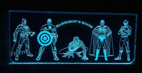Super Hero's Kids Night Light LED Lit Remote Control,Batman,Superman,Spiderman