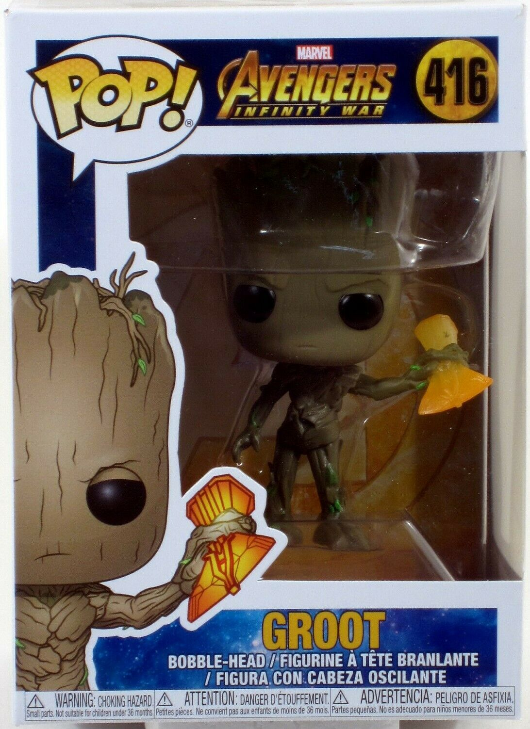 Bobble Marvel Groot con Stormbreaker Multi Funko 35773 Pop INFINITY WAR S2