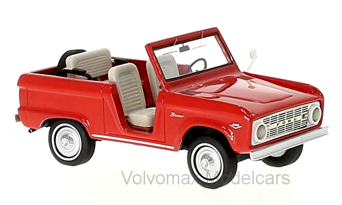 Wonderful modelcar FORD BRONCO ROADSTER 1966 - rosso - 1/43 - lim.ed.700