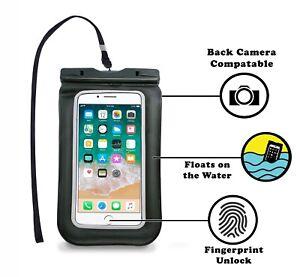 Universal-Wasserdichte-Tasche-fuer-Handy-bis-6-5-034-mit-Fingerabdruck-entsperren-Funktion