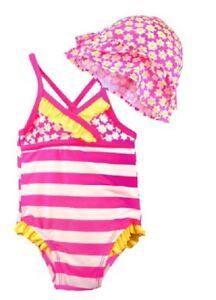 Circo Baby Girl s Swimsuit   Hat One Piece 12 Month 12M Ruffle Swim ... 22bbbf01e8b