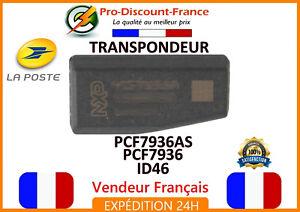 Transpondeur-PCF7936AS-ID46-Pour-Peugeot-Citroen-Renault-ANTIDEMARRAGE-Cle-puce