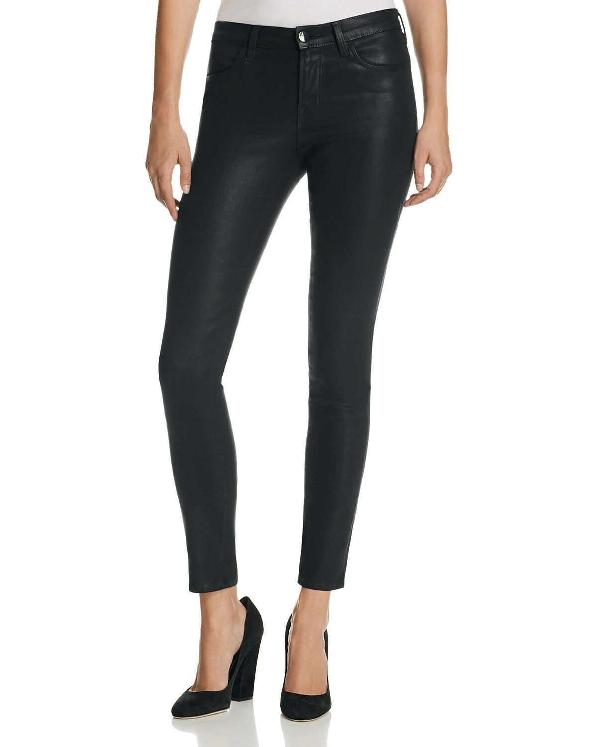J Brand 620 Mid Rise Super Skinny Jeans Lacquer