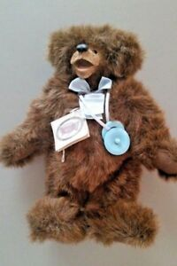 """Sweet-Tempered """"christopher"""" Baby Brown Bear By Teddy Bear Artist Kimberly Hunt Relieving Heat And Thirst. Manufactured"""
