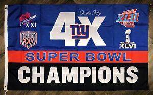 63298dc7 New York Giants NFL Super Bowl Championship Flag 3x5 ft Sports ...