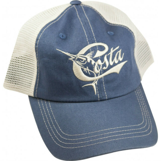 e53b10ca09d Costa Del Mar Mesh Retro Adjustable Cap Hat Blue Stone for sale ...