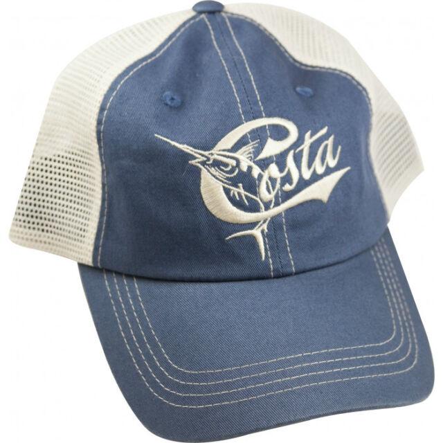 Costa Del Mar Mesh Retro Adjustable Cap Hat Blue Stone for sale ... c19071f8f82f
