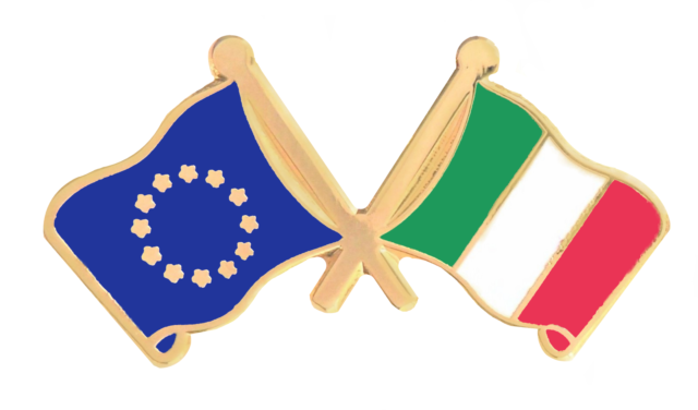 Italy /& Great Britain Flags Friendship Courtesy Gold Plated Enamel Pin Badge