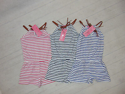 Energisch Mädchen Kinder Overall Jumpsuit Blau U. Rosa Gestreift Gr.92-152