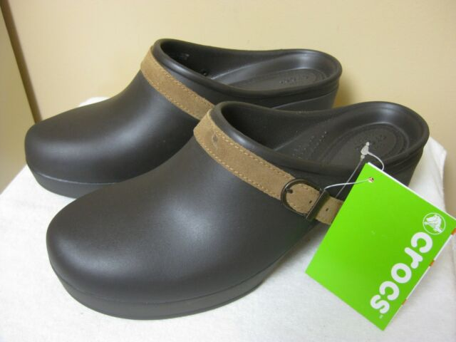 d9997c5ac CROCS SARAH Clogs Mules Shoes Espresso Standard Fit Low Platform NWTS Size  11