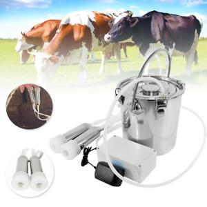 Mungitrice Elettrica Portatile 5L per Mucca Dell/'Azienda Agricola con Materiale
