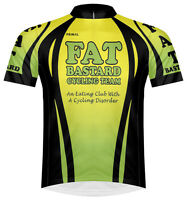 Primal Wear Fat Bastard Cycling Team Jersey Men's Yellow Green Bicycle With Sox