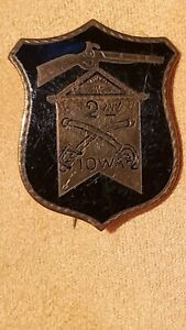 Investment Grade Civil War Cavalry Corps 2nd Iowa Badge, Greierson's Raid, Wilso