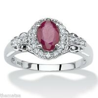 WOMENS STERLING SILVER TOPAZ RUBY RING SIZE 6 7 8 9 10