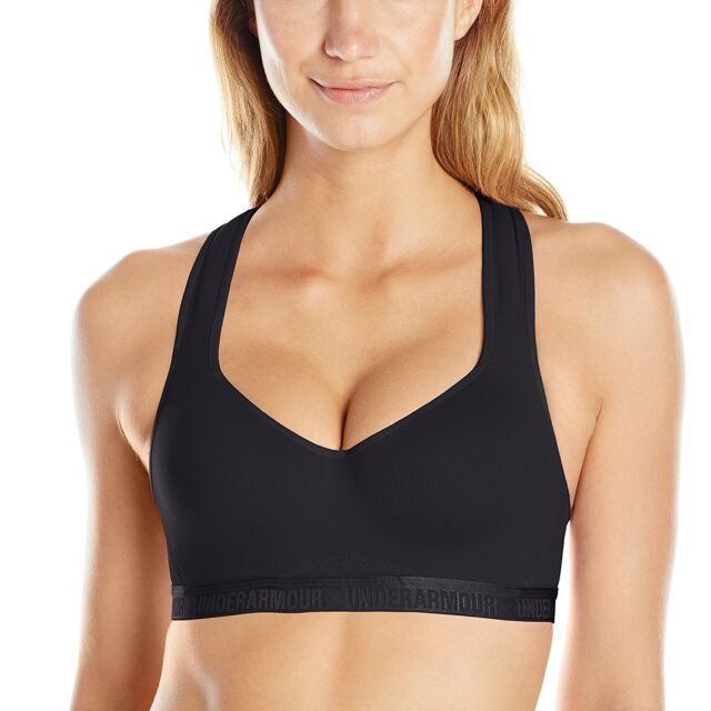 45812caf Under Armour 1259953 High Impact Sports Bra Black 36c