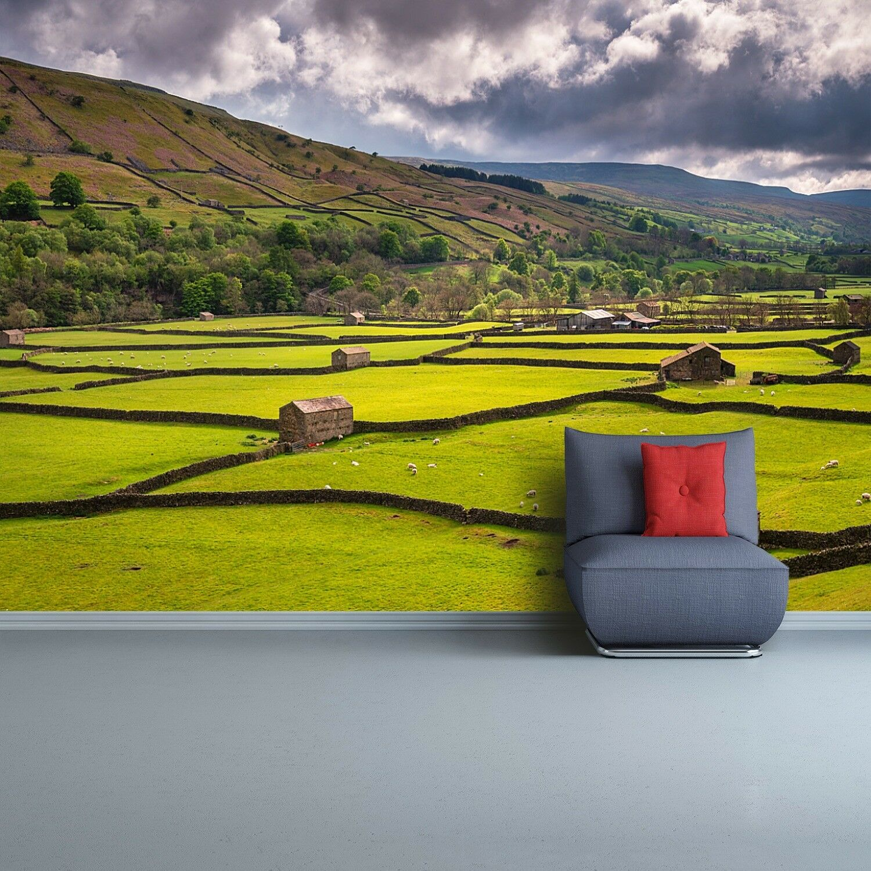 Fototapete Selbstklebend Einfach ablösbar Mehrfach klebbar Feld Yorkshire