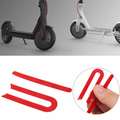 For Xiaomi Mijia M365 E-Scooter Front /& Rear Wheel Rubber Reflective Stickers QH