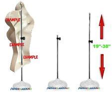 1 Decor Base Table Top Display Stand For Manikin Mannequin Half Form Adjustable