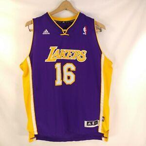 0f673ff89ae9 Adidas NBA Jersey Los Angeles Lakers 16 Gasol Purple Youth XL + 2 44 ...