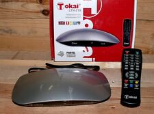 TV Receiver DVB-T Kabel Tokai LTN 219 Mini Camping TV Tuner FB Scart Silber Schw