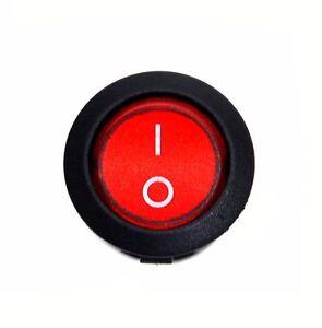Auxcell 5 PCS AC250V6A//125V10A Red Light Boat Switch ON//Off Rocker Switch,Ellipse