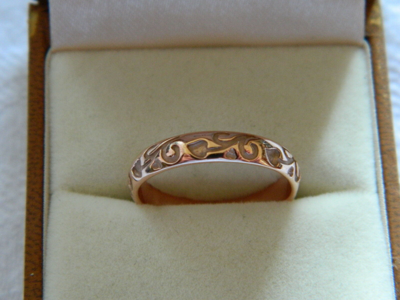 Clogau 9ct pink Welsh gold Tree of Life Ring size P