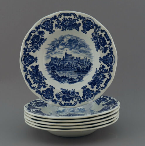 "Enoch Wedgwood /""Royal Homes of Britain/""  teller platte blau schale England kanne"