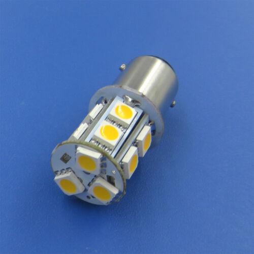 1x//10x BA15D 1142 LED boat bulb Car Light 13-5050SMD LED DC 12~24V Warm//White #N