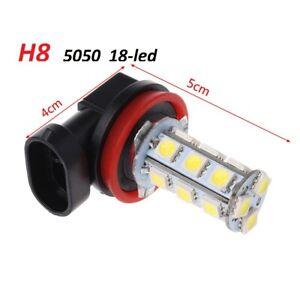 2-x-Lampadine-H8-5050-SMD-18-LED-6000K-PER-FENDINEBBIA