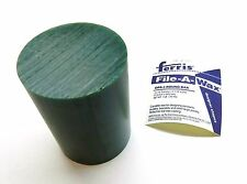 "CARVING WAX ROUND BAR GREEN 3-1/16"" DIAMETER FERRIS FILE-A-WAX HARD DRB-3 - 1LB"