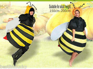 41b4a38f8801 Image is loading Bumble-Bee-Inflatable-Costume-Unisex-Fancy-Dress-Suit-