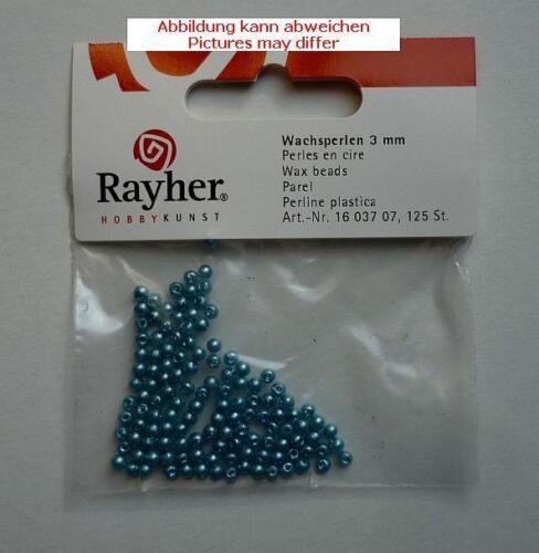 Rayher Wachsperlen 3 mm ca.125 Stück Fb.07 türkis
