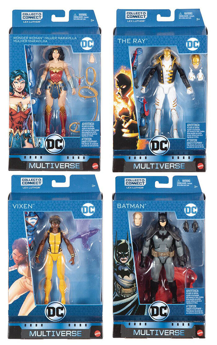 DC Comics Multiverse Lex Luthor Serie de 6 pulgadas-juego de 4 (Baf Lex Luthor)