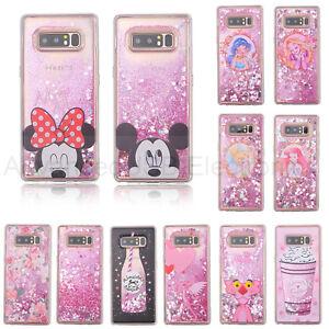Antichoc-Quicksand-Disney-paillettes-liquide-doux-TPU-housse-pour-iPhone-Samsung