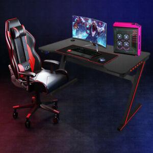 Computer Desk Gaming Table Gamer Workstation For Home Or Office Gaming Pc Desk Ebay