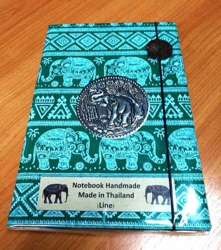 Diary Notebooks Binders Line Paper Thai Handmade decored Elephant cover fabric