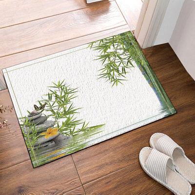 """Spa Zen Stone Relax Non-Slip Bathroom Carpet Bath Door Mat Floor Rug 24x16/"""""""